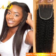 Unprocessed Mongolian Kinky Straight Hair Lace Closure Wholesale Mongolian Yaki Lace Closure Mongolian Human Hair lace Closure