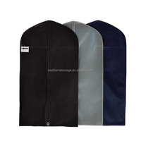 2015 Newest polyester foldable garment bags with zipper customized mens suit cover bag