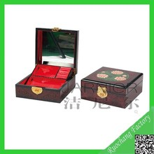 Natural handicraft jewelry box for necklaces with mirror/jewelry boxes for women/jewelry gift boxes for necklaces MZ-24
