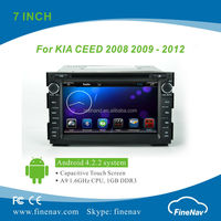 Finenav 7inch LCD Android 4.2.2 Car Stereo for KIA CEED with Gps Navi,3G,Wifi,Bluetooth,Ipod Support DVR