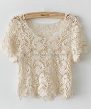 Spring&Summer Joker knitting hollow-out smock knit sweater
