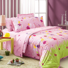 China factory supply comforter making by machine pink satin comforter sets sunflower