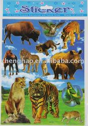 Designs wallpaper with animal room tiles pvc sticker