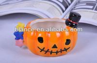 cheaper ceramic 3d pumpkin mugs Halloween promotion