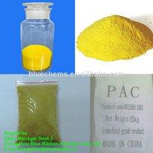 Poli cloruro de aluminio( pac) 30% min poli cloruro de aluminio