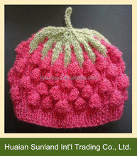 2015 hot baby knitted snow cap knitting cap