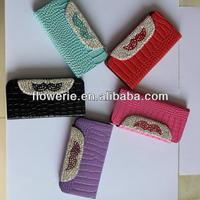FL2741 2013 Guangzhou hot selling crocodile beard diamond wallet leather flip case for iphone 5