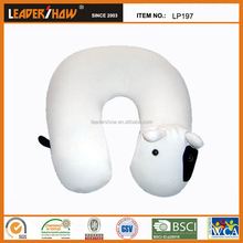 animal pillow about dog/printing neck pillow with the microbeads