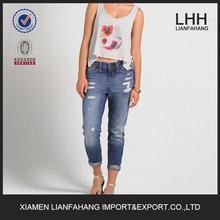 men in women's trousers women ripped boyfriend jeans