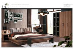 1.8 bed. king size wood veneer bedroom furniture for sale