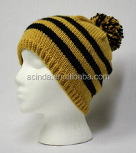 Good quality 100% Acrylic Custom Design Beanie Hat Knitted hat China Supplier