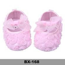 Rose flower shoes pink color baby shoes Beautiful Baby Girls Shoes summer