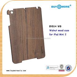 Luxury Natural Wood Case For Apple iPad Mini Cases Bamboo Wood Hard Back For Apple iPad Mini2