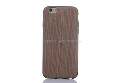 Wood Pattern Sticker Wrap TPU Mobile Phone Case Cover for Iphone 6s/6s plus