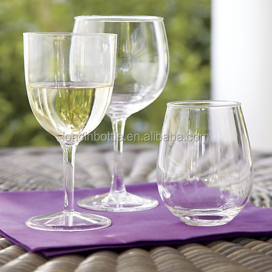 Wholesale double wall insulated 10 oz acrylic tumbler stemless wine glass with lid 10oz stemless - Insulated stemless wine glasses ...