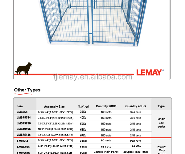 5'x5'x4'ft weld metal steel dog cage crate for transport