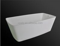 aquare acrylic solid surface freestanding bathtub