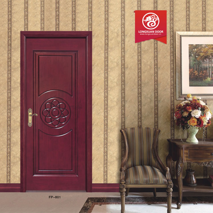 Wood bedroom door with best plywood door design china for Plywood door design