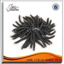 Venta al por mayor del pelo distribuidores vía láctea brasileño mojado y ondulado cabello humano