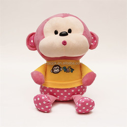 Good quality promotion T-shirt monkey stuffed toy