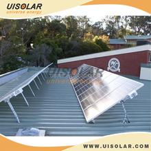Support single column adjustable solar panel mount