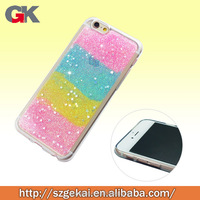 tpu fancy design colorful glitter for back cover case for iphone6 , case for iphone 6 plus