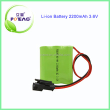 over 500 cycle times 2200 3.6v aa ni-mh battery