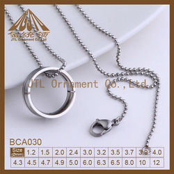 Top quality dog tag bead chain stainless steel jewellery
