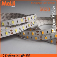 China manufacturing 5630 warm white indoor led lighting stripes for kitchen cabinet
