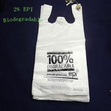 china plástico biodegradable d2w oxo bolsas con epi y