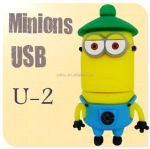Wholesale price Newest pen drive cartoon toy Minions flash drive 8GB 16GB 32GB 64GB USB 2.0 Memory Stick usb flash stick
