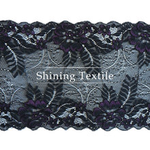 16-20 cm de nylon con spandex elástico blonda elastica para lencería