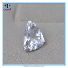 bright white triangle shaped ornamental stone for art and craft
