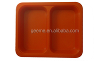 new design two compartment melamine serving tray food tray