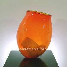Low Price Fine Art Slanted Clear Glass Vase