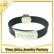 Fashion anti-static cheap custom silicone bracelets