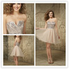 Beautiful Strapless Beaded Tulle Zipper Back Short A-line Cocktail Dresses
