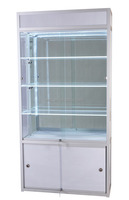 China new design popular classic design mdf material portable display case in fashion shop