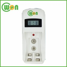 9V NIMH Batter Charger 2A Battery Charger LCD display and Green / Red LED