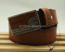 2015 China fashion custom Made Brown Pu Leather Belt Men