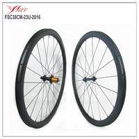 High quality cincher wheelset, 38*23mm clincher bicycle wheels with EDhub + sapim spoke
