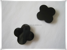 high quality & competitive special flwoer flat cutting of black agate fashion gemstone