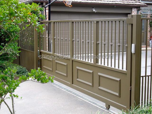 Folding gate metal door frame double steel entry gyd for Metal door paint colors