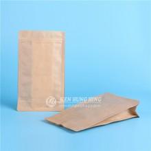 Good quality Food Packaging Ziplock Kraft paper Quad Seal dry fruit Bag