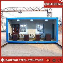 modern demountable portable fully furnished home prefabricate in wood