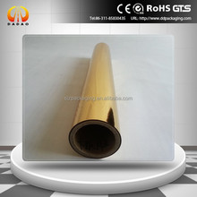 12mic Gold metallized PET thermal lamination film