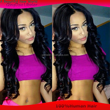 Free shipping body wave Front Lace Wig / glueless Full lace wig indian human hair wigs for black women