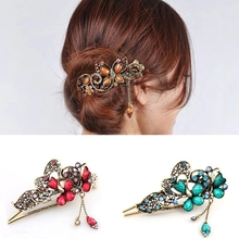 vintage Antique hair Jewelry Large classic Hairgrip for Young Women