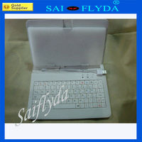 7inch tablet pc Leather Keyboard Faerie Cover case for Android Tablet
