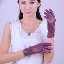 Wholesale Sexy City Colorful Cheap Leather Ladies Gloves
